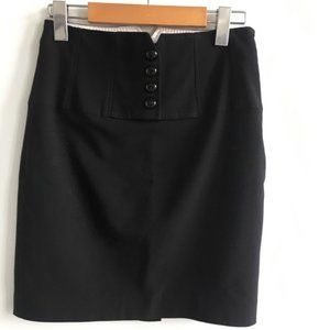 Principles Petite Black Mini Formal Suit Skirt 2